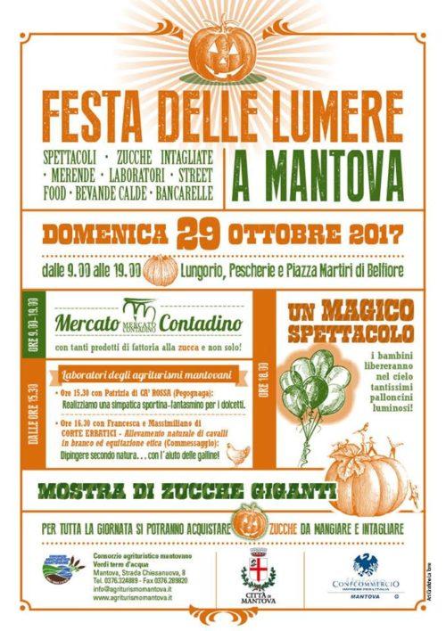 FESTA DELLE LUMERE – MANTOVA – Domenica 29 Ottobre